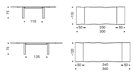 Measurements of Sigma Drive Expandable Dining Table