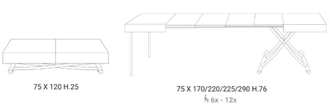 Magnum coffee table by Ozzio Italia product specs