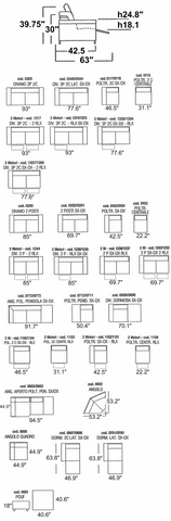 Micol Sectional Sofa Compositions Schematics