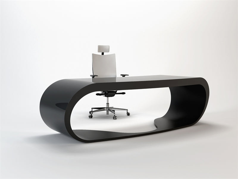 Black Goggle desk with black inner trim made in Italy