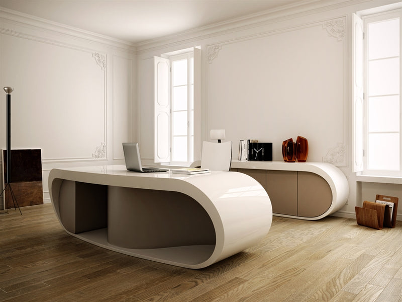 Room with white Italian desk