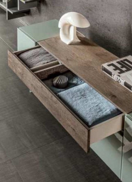 High end sideboard by Lago with drawer open