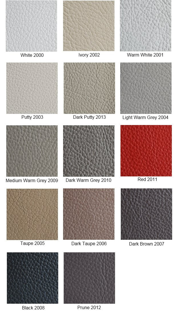 color swatch options for Italian Leather sofa