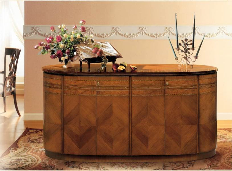 Luxury buffet made from wood in Italy by Carpanelli
