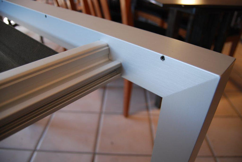 View of the Sushi Dining Table's metal frame