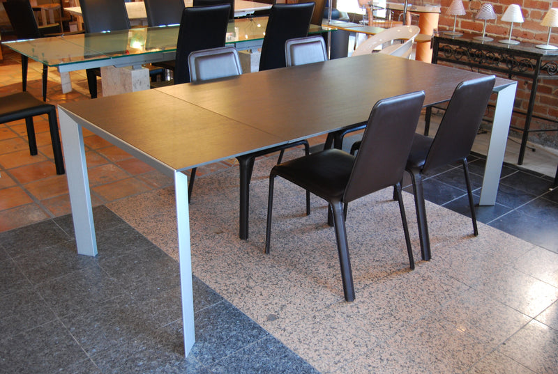 Kristalia Nori Expanded Dining Table With Chocolate Top