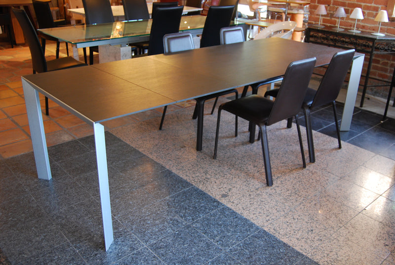 Kristalia Nori Dining Table With Chocolate Top and Expanded table