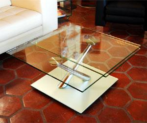 Glass top italian coffee table