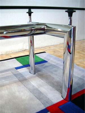 Le Corbusier Chrome Dining Table - italydesign.com