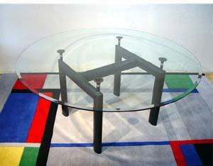 Le Corbusier Round Glass Dining Table - italydesign.com