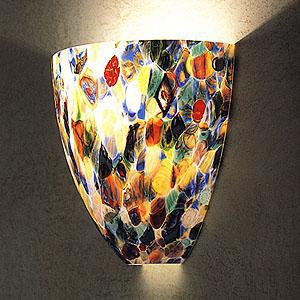 Wall sconces made with Murano glass in Italy for Italydesign