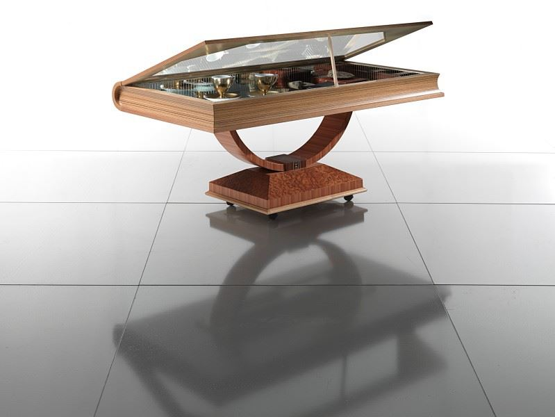 book shaped luxury coffee table made in Italy by Carpanelli