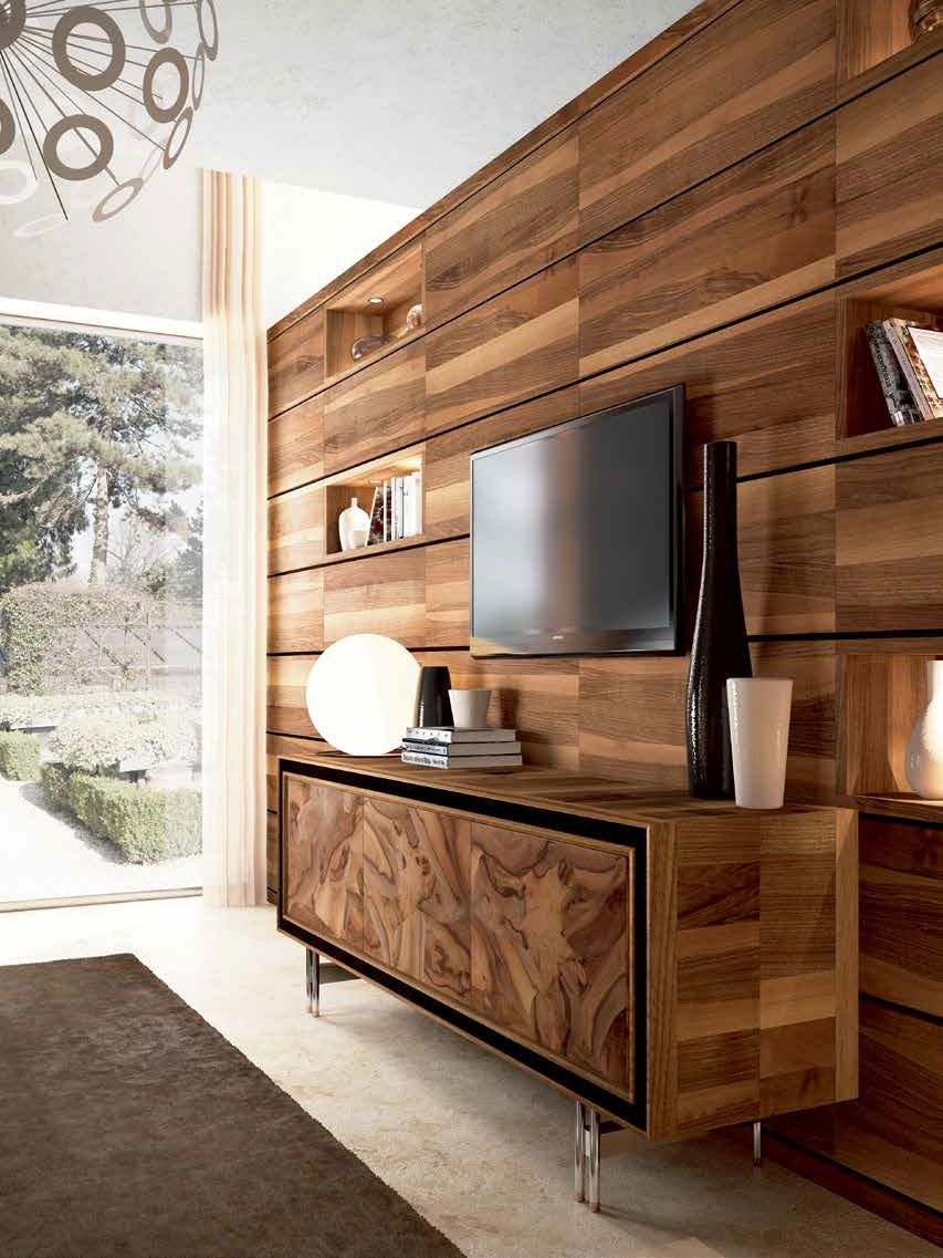 View of Toscano Buffet Cabinet designed by italydesign in living room