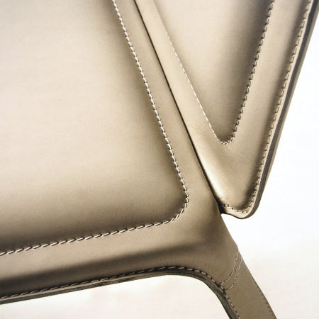 Andre and Andre Tall Dining Chair - close view of material and stitching