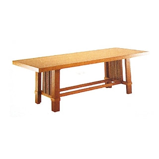 Arts and Crafts Table - Arts and crafts dining table inspired by Frank Lloyd Wright