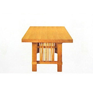 Arts and Crafts Table - wooden Italian table side view