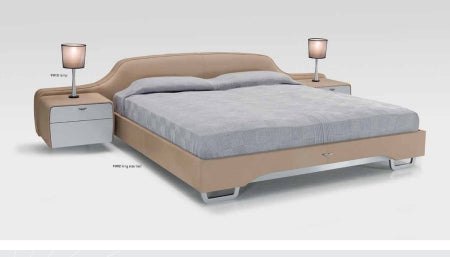 V092 - Modern leather bed by Aston Martin Interiors