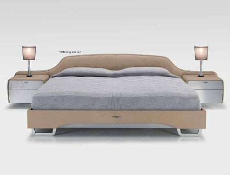 V092 - Designer Italian bed with grey sheets