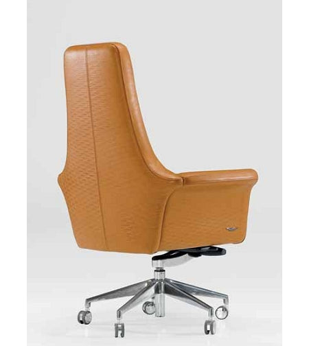 V049 Presidential executive office chair in yellow leather made in Italy