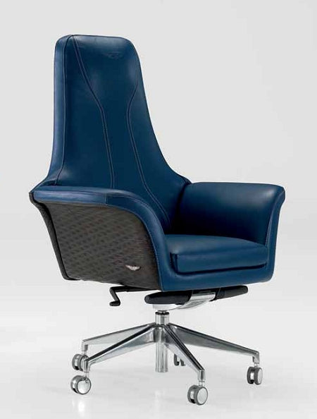 V049 Presidential - Italian office chair in blue leather