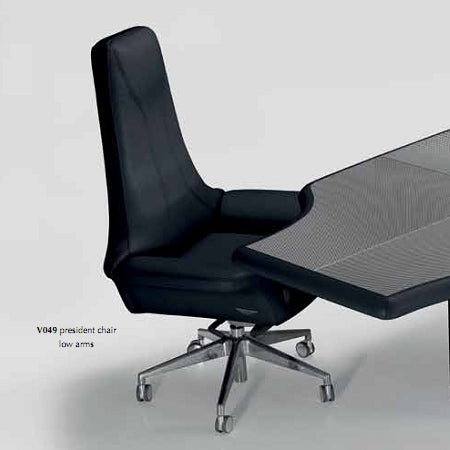 V049 Presidential - office chair in black leather