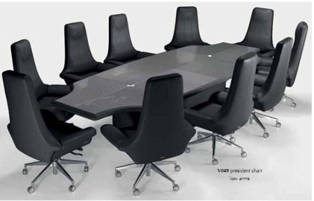 Italian conference room surrounded by executive office chairs