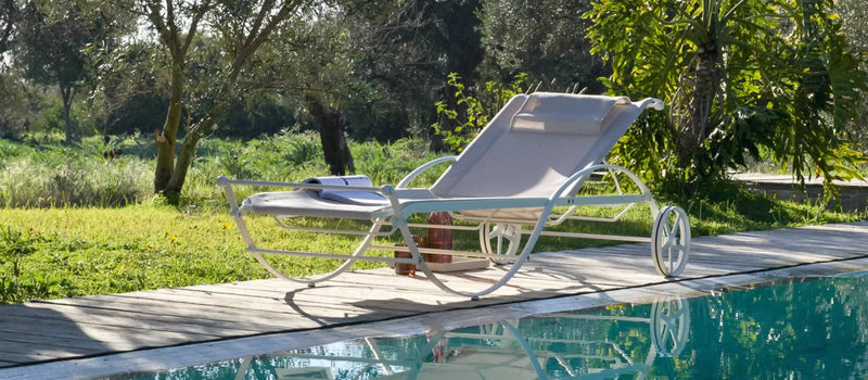 Aurora Sun Lounger made in Italy by Unopiu