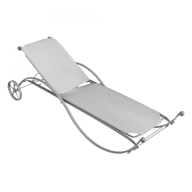 Italian sun lounger with wheels