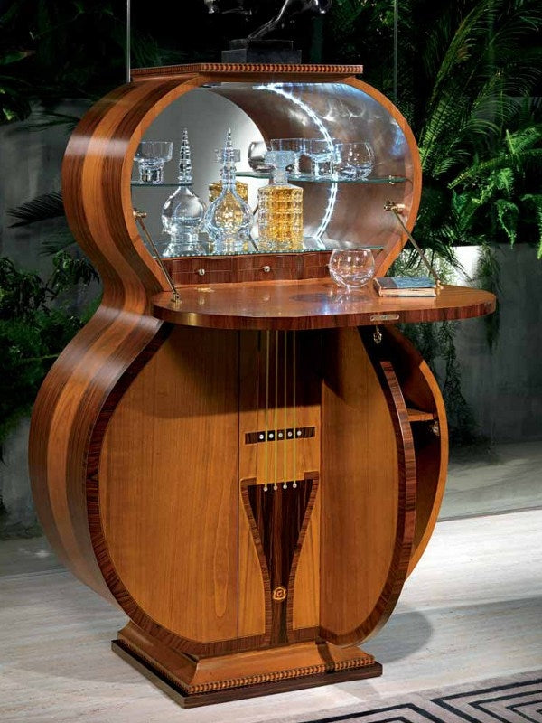 Guitar Bar - Artisan piece made in Italy by master woodworkers at Carpanelli