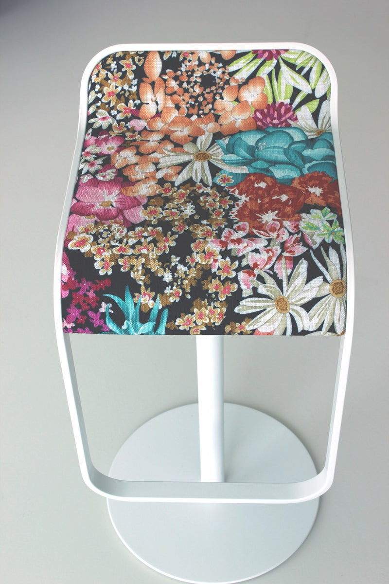 LEM bar stool by LaPalma in floral print