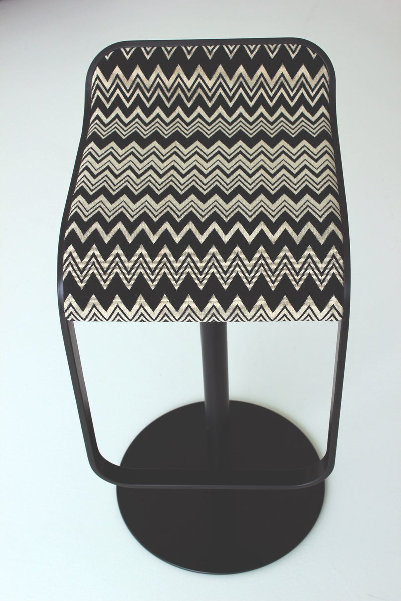LEM bar stool by LaPalma in chevron print