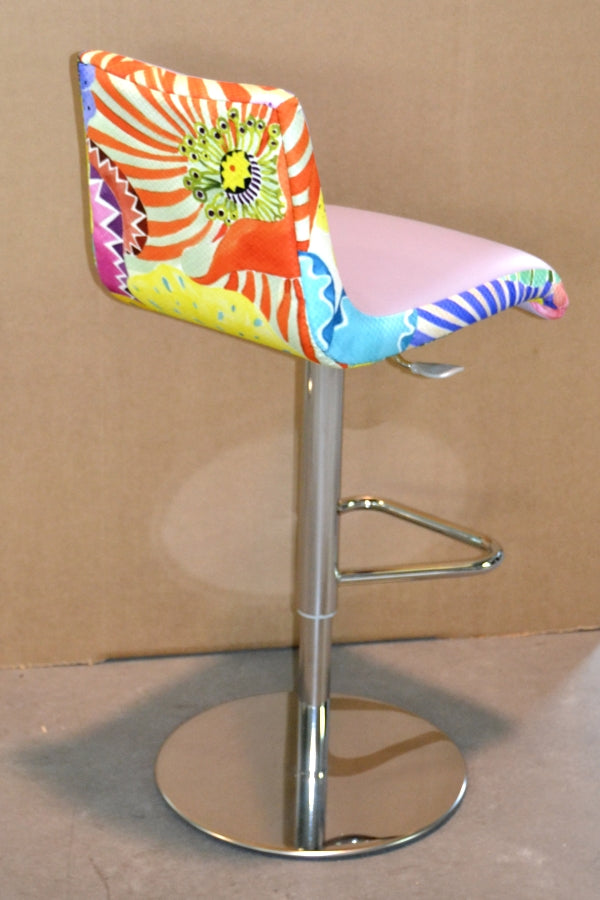 Bright and colorful Italian bar stool