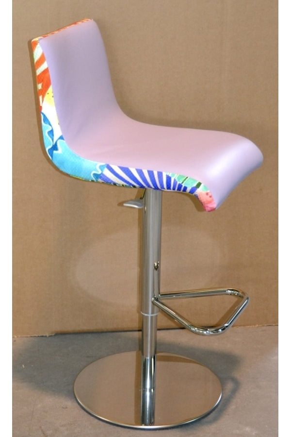 side view of bright and colorful Italian bar stool