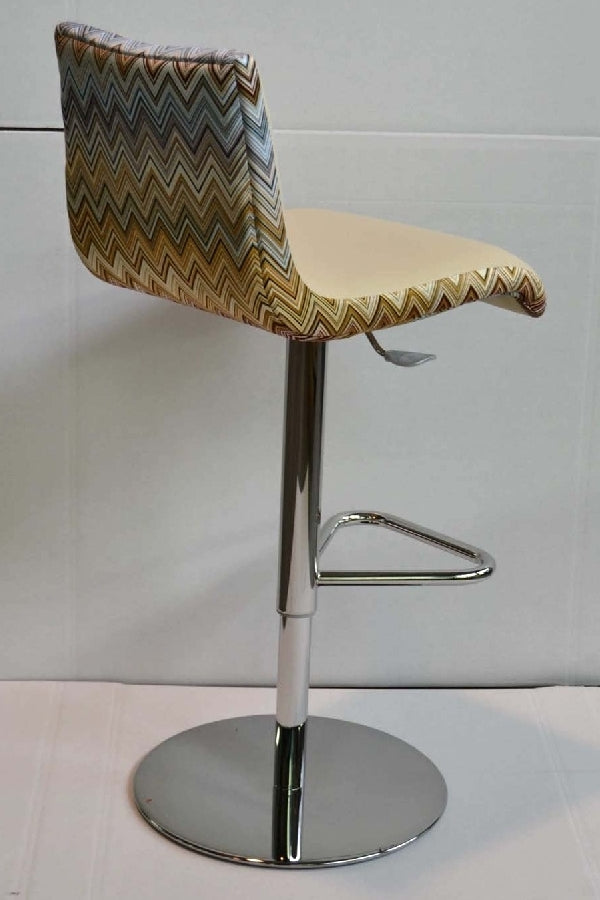 Cloud M Stool / MissoniHome Fabric - with chevron print