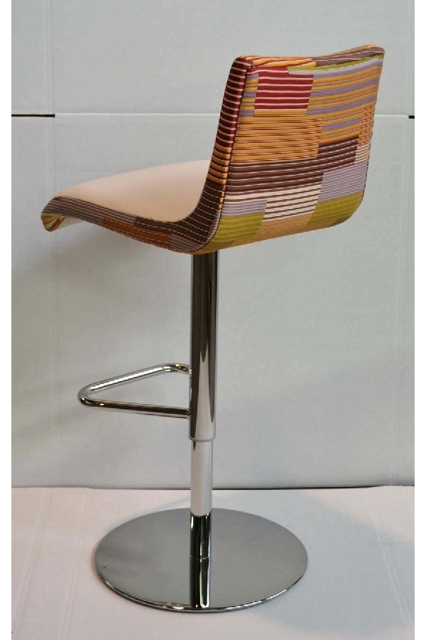 Colorful fabric bar stool made in Italy