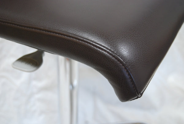 Cloud Narrow black leather Barstool