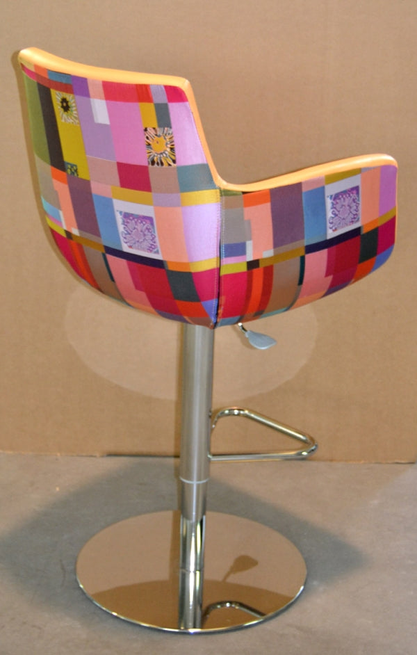 Geo M Stool by MissoniHome - Barstool made with fabric and leather