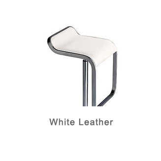 LEM white leather bar stool by LaPalma