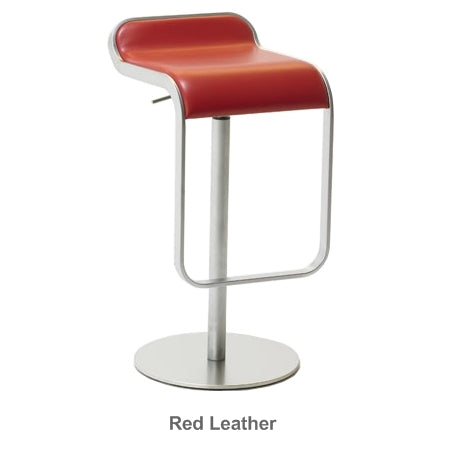 LEM red leather bar stool by LaPalma