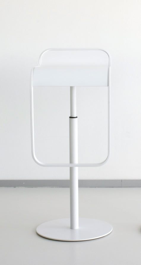 White LEM bar stool by LaPalma, Italian designer furniture maker