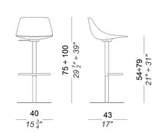 Miunn Barstool design spec sheet