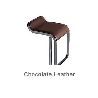 LEM chocolate leather bar stool by LaPalma
