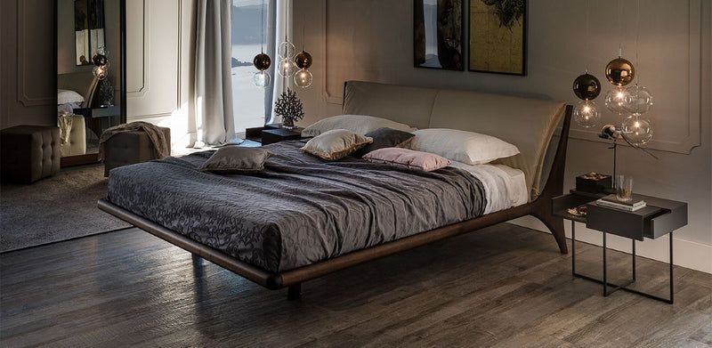 Dark Setting with Nelson Bed designed by Cattelan Italia