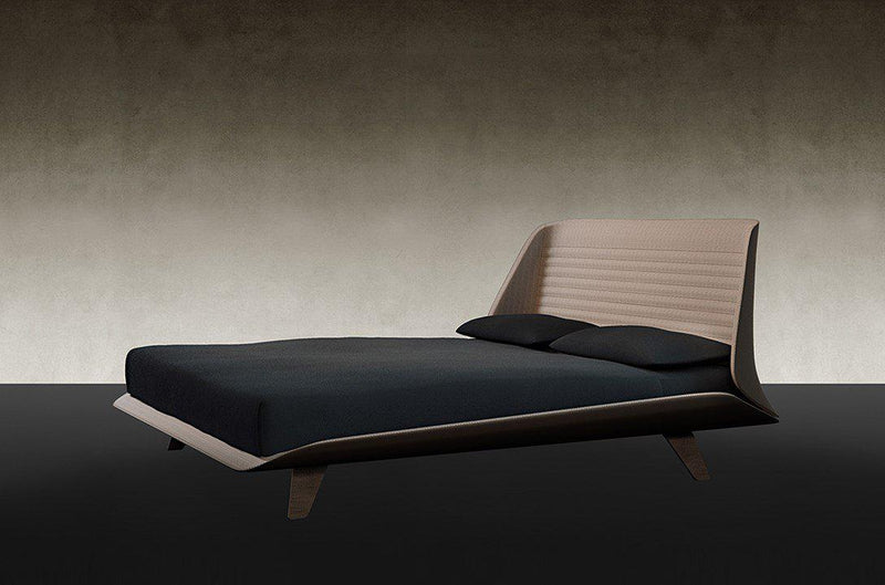 Segno Letto Leather bed designed by Pininfarina Home Collection for Reflex - italydesign.com