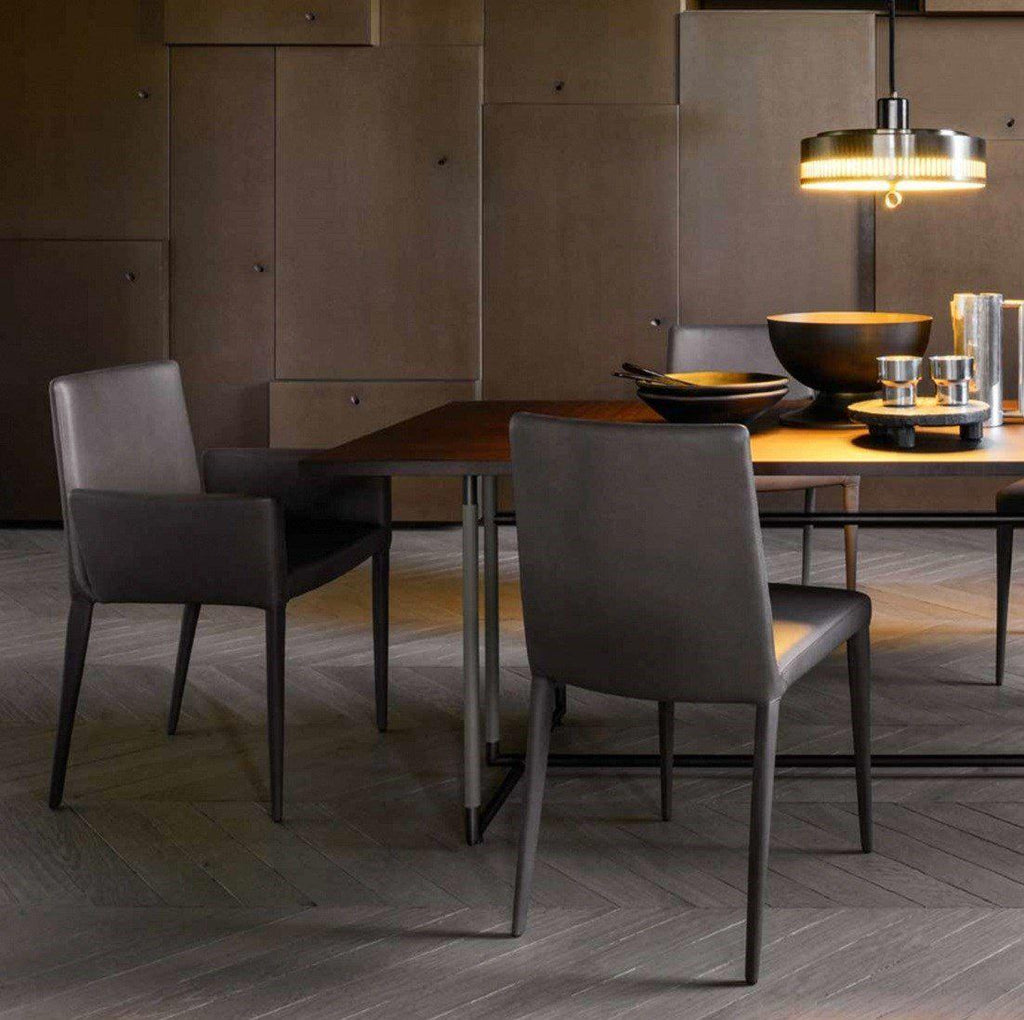 The Bella Side dining chair in leather by Frag