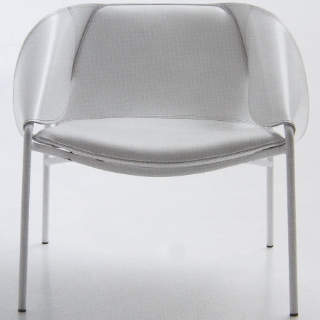 Bend Occasional Chair - luxury chair made from white leather in Italy by Fasem