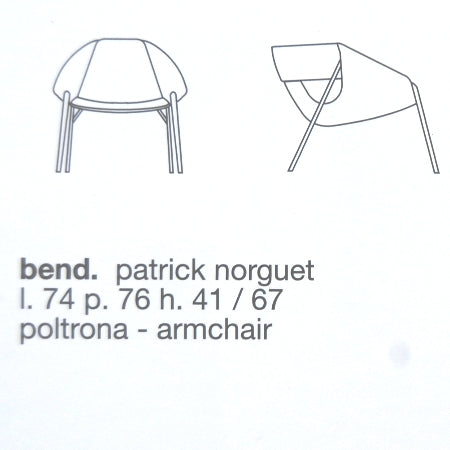 Bend Occasional Chair by Fasem product specs