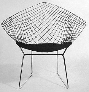 Bertoia Diamond Chair 191 - diamond shaped chair with lattice worked back made in Italy