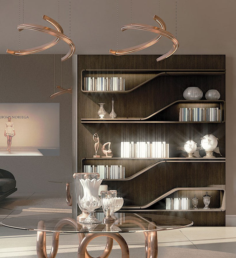 Segno Libreria - wooden bookcase made in Italy by Pininfarina