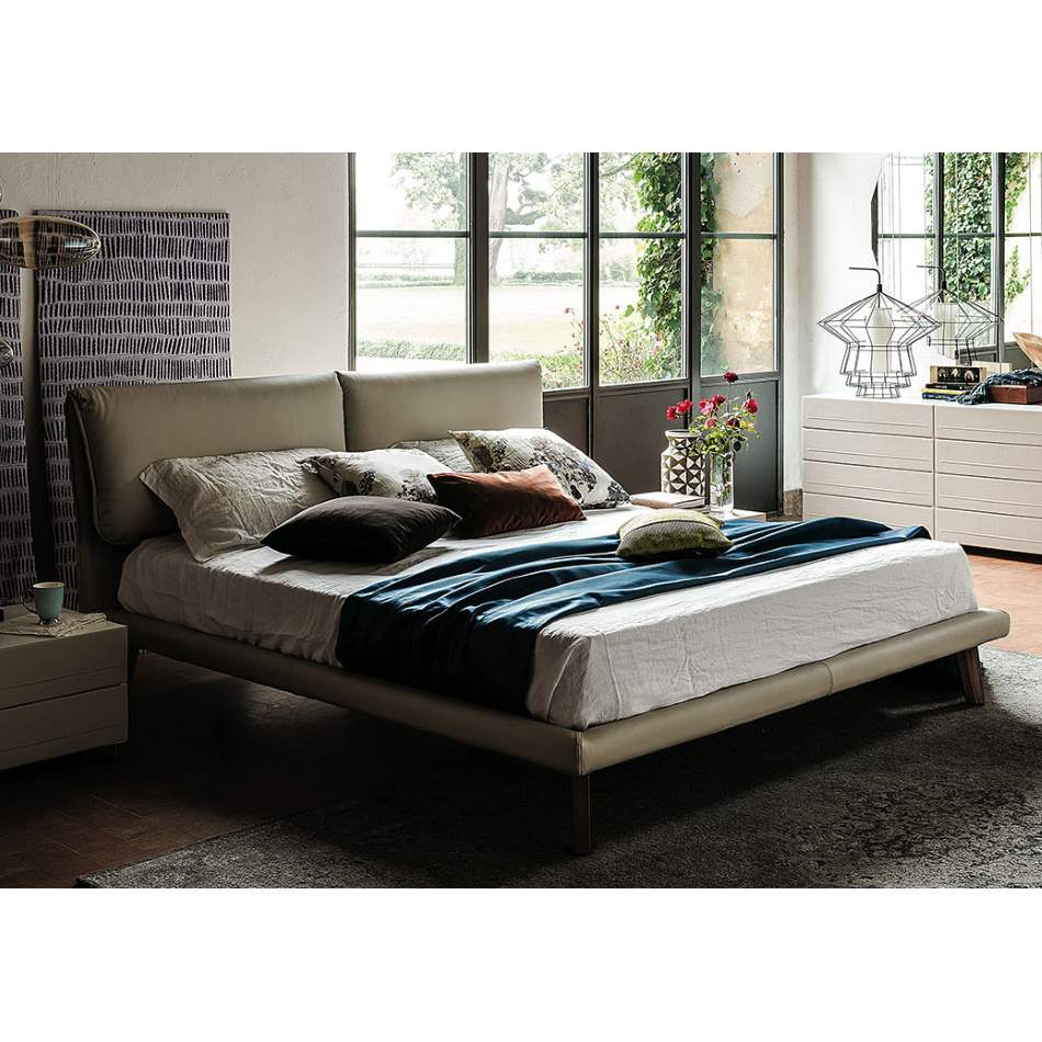 Adam Bed - Modern Upholstered bed by Cattelan Italia